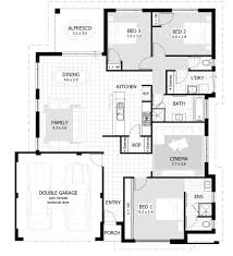 Small Picture Three Bedroom House Simple Planning Idea Home Design Ideas
