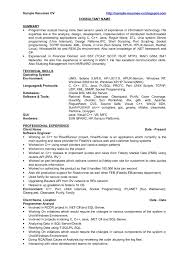 Java Resume Sample Resume Work Template