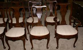 queen anne dining room table. set of 10 queen anne burl walnut antique dining room chairs table r
