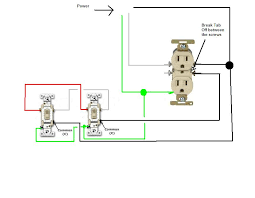 two switch outlet wiring house electrical wiring diagrams how do i go about wiring two split circuit outlets controlled full size image