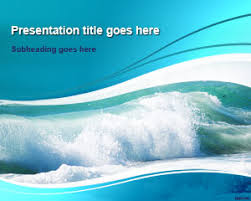wave powerpoint templates free ocean waves powerpoint template