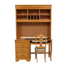 wooden desks for home office. shop stanley furniture custom oak wood desk with hutch and chair home office desks wooden for