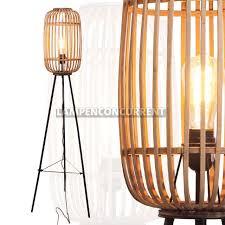 Staande Rotan Lamp Malacca