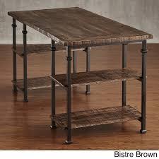 vintage metal office furniture. Amazon.com: HOME Myra Vintage Industrial Modern Rustic Storage Desk Bistre Brown: Kitchen \u0026 Dining Metal Office Furniture L