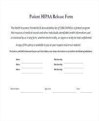 Hipaa Request Form Medical Records Release Form 7 Free Documents Download Free Patient