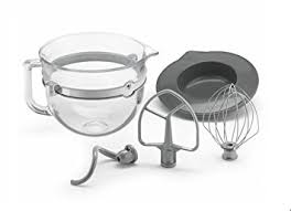 kitchenaid accessories. kitchenaid 6 quart glass mixing bowl with accessories for bowl-lift stand mixers kitchenaid r