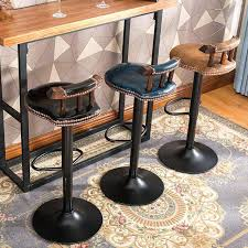 kitchen counter bar stools industrial vintage rustic retro swivel counter bar stool cafe chair with backrest kitchen counter bar stools