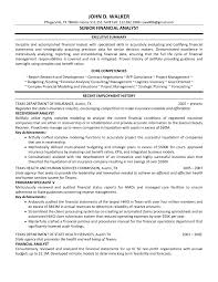 Financial Analyst Resume Examples Free Resume Example And