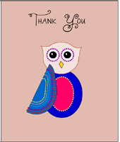 Cute Owl Baby Shower Thank You CardsOwl Baby Shower Thank You Cards