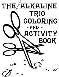 Alkaline Trio Alk3 Coloring And Activity Book For The Trio