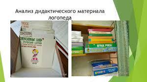 Отчет по практике online presentation  Анализ дидактического материала логопеда