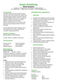 Retail CV template  sales environment  sales assistant CV  shop     Interview winning example of how to write a retail assistant CV