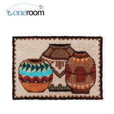 oneroom zd00 jars oneroom hook rug kit diy unfinished crocheting yarn mat latch hook rug kit