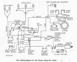 john deere 400 pto page 2 this will have to be replaced a pto switch on your dash not sure which 400 you have but here are the 2 wiring diagrams