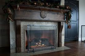 custom freestanding fireplace screens