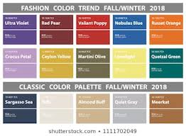 Fashion Colour Chart Fashion Color Chart Stock Vectors Images Vector Art