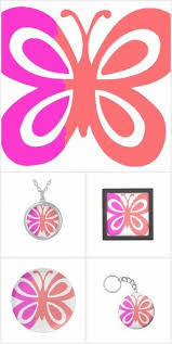 Cute collection of Pink Butterflies on various products. Customize any item  by adding or changing the text!