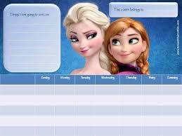 Elsa Potty Training Chart Frozen Sticker Charts
