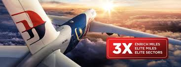 Malaysia Airlines Enrich Triple Everything Rewards October