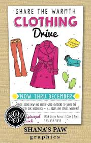 Use This Colorful Clothing Drive Flyer Design To Get The