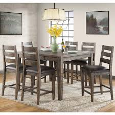 rustic counter height table regarding glenwood piece solid wood dining set within plans architecture