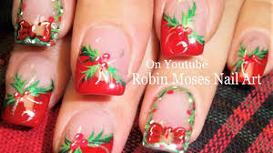 Easy Christmas Nails! | DIY Holly and Xmas Wreath Nail Art ...