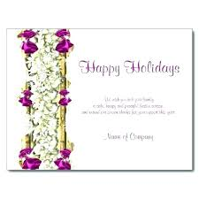 Happy Holiday Card Templates Company Holiday Card Template Greeting Business Free