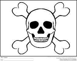Skull And Bones Coloring Pages Skull Bones Coloring Sheet Skull