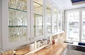 Modern Glass Front Kitchen Cabinet