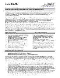 Sample Resume For Business Analyst Best A Resume Template For A Software Engineer You Can Download It And
