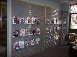 garage garage slatwall systems beautiful a great way to display periodicals using slat wall and