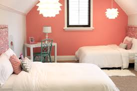View in gallery Lovely coral with pinkish hue for the relaxed modern bedroom