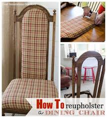 dining room chair back cushions. Reupholstering A Dining Chair Beauteous Reupholstered Room . Back Cushions D