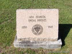 """Ada Juanita """"Nita"""" O'Neal Rhodes (1879-1945) - Find A Grave Memorial"""