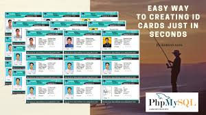 Make An Id Card How To Make A School Id Card Generate System By Php Php Mysql