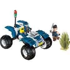 Building Block Bricks City <b>Police</b> Patrol Car Vehicles 2 Figures 3D ...