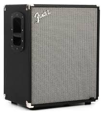 fender rumble 210 2x10 700 watt b cabinet silver grille