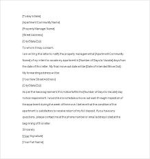 Rental Letter Template Landlord Notice To End Tenancy Letter Tenant Day Vacate