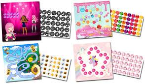 Reward Chart Set Girls Select Potty Target Sticker No
