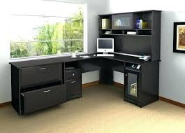 Black Desk With Hutch Desks For Home Office With Hutch Medium Size