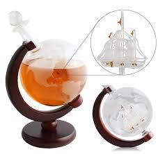 whiskey decanter set 1000ml globe decanter globe glasses and 2 of 7