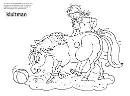 Kleurplaat Manege De Zonnehoeve Uitgeverij Kluitman