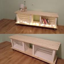 wooden crates inspired tv stand