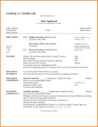 Resume Cv Sample Pdf Curriculum Vitae Resume Samples In Word Luxury