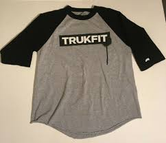 Mens Trukfit Baseball Style Shirt In Gary And Black Size
