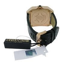 roberto cavalli venom r7251192025 men 039 s square analog date roberto cavalli venom r7251192025 men s square analog date black crocodile watch