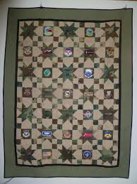 8 best Quilts - Military images on Pinterest | Quilt patterns ... & Military Quilts incorporates fabric from uniforms and patches! Adamdwight.com