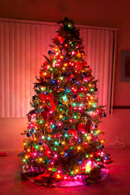 Beautiful Ideas Christmas Tree With Colored Lights Artificial 9 6 Foot And