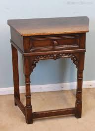 antique oak small side table