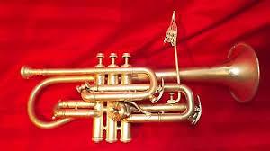 york trumpet. 1917 york silver plated perfec tone long cornet w/ lyre frank holton mouthpiece trumpet t